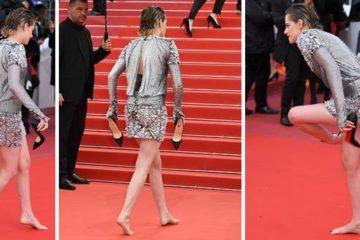 كريستين ستيوارت حافية القدمين في مهرجان كان السينمائي