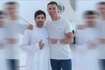 صورتان تجمعان رونالدو وولي عهد دبي بانستغرام.. فماذا علق كل منهما؟