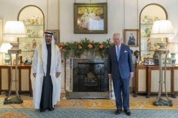 محمد بن زايد يبحث جوانب التعاون المشترك مع ولي عهد بريطانيا
