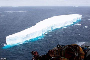 جبل جليدي يقع على مسار تصادم مع جزيرة جورجيا الجنوبية.. صور