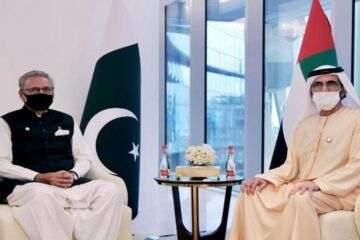 محمد بن راشد يلتقي الرئيس الباكستاني في إكسبو 2020 دبي
